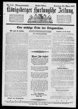 Königsberger Hartungsche Zeitung vom 25.03.1917