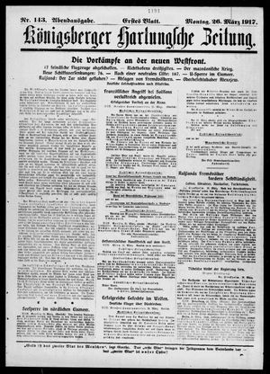 Königsberger Hartungsche Zeitung on Mar 26, 1917