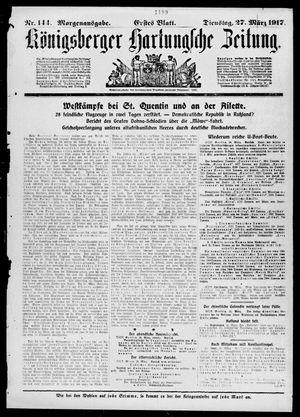 Königsberger Hartungsche Zeitung vom 27.03.1917