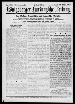 Königsberger Hartungsche Zeitung vom 31.03.1917