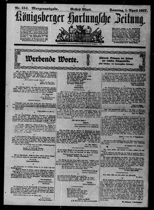 Königsberger Hartungsche Zeitung vom 01.04.1917