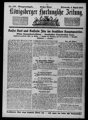 Königsberger Hartungsche Zeitung vom 04.04.1917