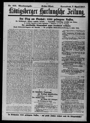 Königsberger Hartungsche Zeitung vom 07.04.1917