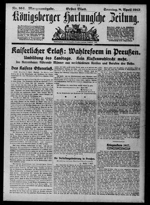 Königsberger Hartungsche Zeitung vom 08.04.1917