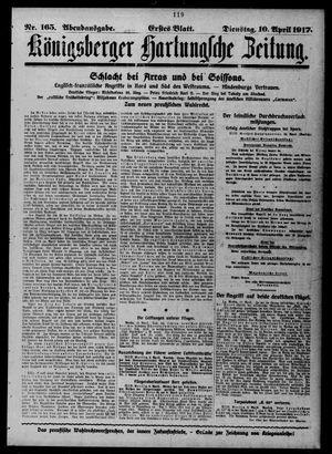 Königsberger Hartungsche Zeitung vom 10.04.1917