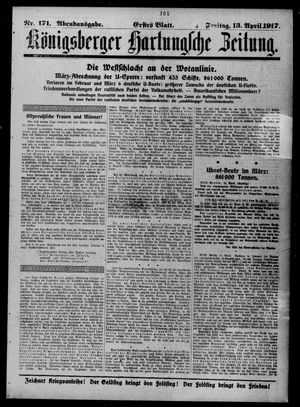 Königsberger Hartungsche Zeitung vom 13.04.1917