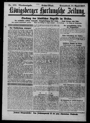 Königsberger Hartungsche Zeitung vom 14.04.1917