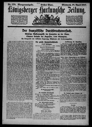 Königsberger Hartungsche Zeitung vom 18.04.1917