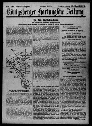 Königsberger Hartungsche Zeitung vom 19.04.1917