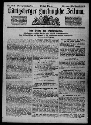 Königsberger Hartungsche Zeitung vom 20.04.1917