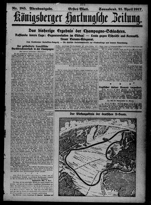 Königsberger Hartungsche Zeitung vom 21.04.1917