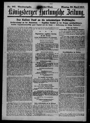 Königsberger Hartungsche Zeitung vom 23.04.1917