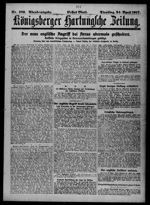 Königsberger Hartungsche Zeitung on Apr 24, 1917