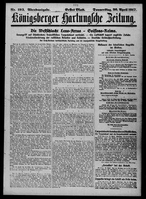 Königsberger Hartungsche Zeitung vom 26.04.1917