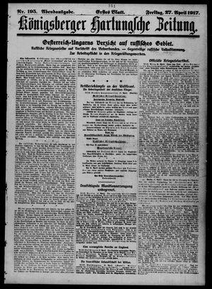 Königsberger Hartungsche Zeitung vom 27.04.1917