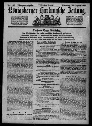 Königsberger Hartungsche Zeitung on Apr 29, 1917