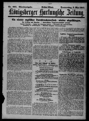 Königsberger Hartungsche Zeitung vom 03.05.1917