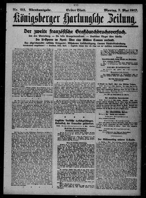Königsberger Hartungsche Zeitung vom 07.05.1917
