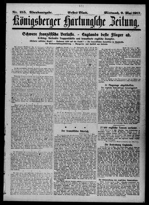 Königsberger Hartungsche Zeitung vom 09.05.1917