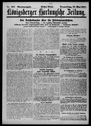Königsberger Hartungsche Zeitung vom 10.05.1917