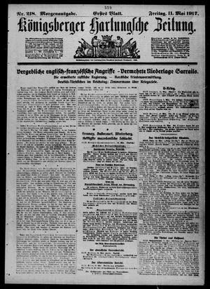 Königsberger Hartungsche Zeitung vom 11.05.1917