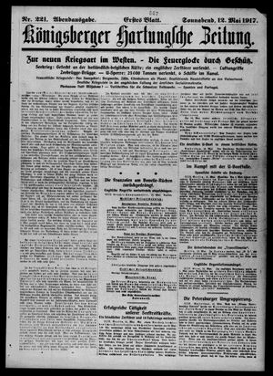 Königsberger Hartungsche Zeitung vom 12.05.1917