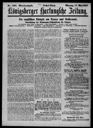 Königsberger Hartungsche Zeitung vom 14.05.1917