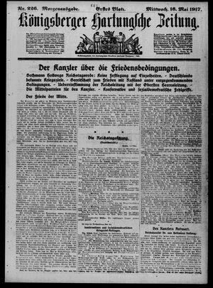 Königsberger Hartungsche Zeitung vom 16.05.1917
