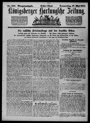 Königsberger Hartungsche Zeitung vom 17.05.1917