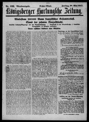 Königsberger Hartungsche Zeitung vom 18.05.1917