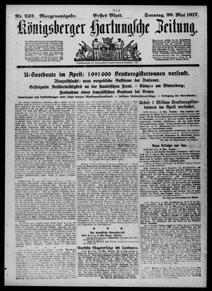Königsberger Hartungsche Zeitung on May 20, 1917