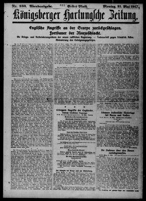 Königsberger Hartungsche Zeitung vom 21.05.1917