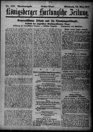Königsberger Hartungsche Zeitung vom 23.05.1917
