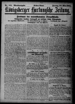 Königsberger Hartungsche Zeitung vom 25.05.1917