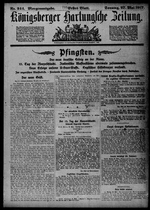 Königsberger Hartungsche Zeitung vom 27.05.1917