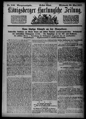 Königsberger Hartungsche Zeitung vom 30.05.1917