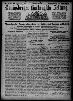 Königsberger Hartungsche Zeitung on May 31, 1917