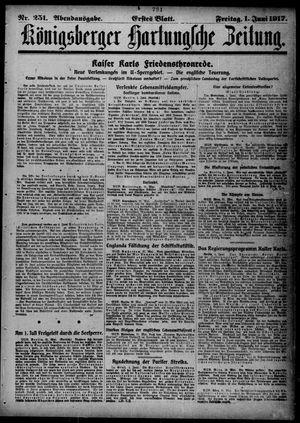 Königsberger Hartungsche Zeitung on Jun 1, 1917