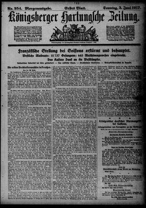 Königsberger Hartungsche Zeitung vom 03.06.1917