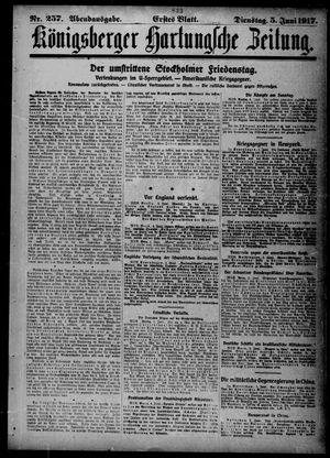 Königsberger Hartungsche Zeitung vom 05.06.1917