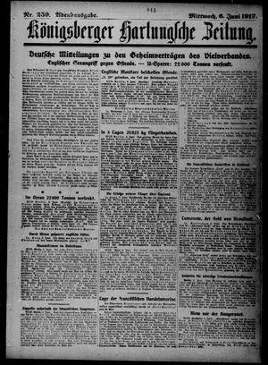 Königsberger Hartungsche Zeitung vom 06.06.1917