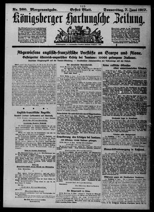 Königsberger Hartungsche Zeitung vom 07.06.1917