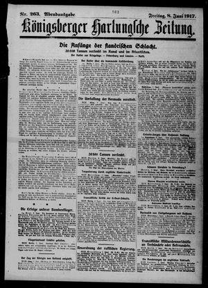 Königsberger Hartungsche Zeitung vom 08.06.1917