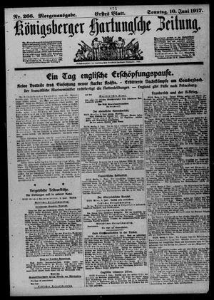 Königsberger Hartungsche Zeitung vom 10.06.1917