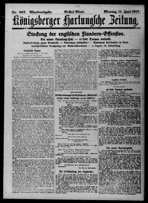 Königsberger Hartungsche Zeitung vom 11.06.1917
