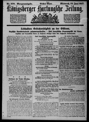 Königsberger Hartungsche Zeitung vom 13.06.1917