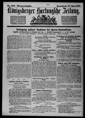 Königsberger Hartungsche Zeitung vom 16.06.1917