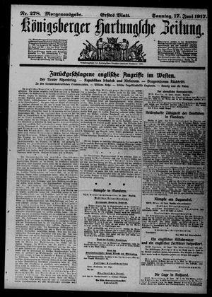 Königsberger Hartungsche Zeitung on Jun 17, 1917