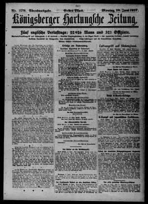 Königsberger Hartungsche Zeitung vom 18.06.1917