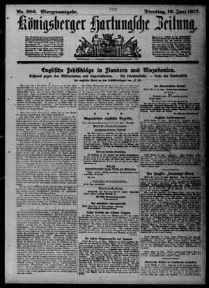 Königsberger Hartungsche Zeitung vom 19.06.1917